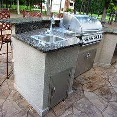 Outdoor Kitchen Island Frame Kit With Bartop