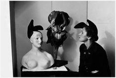 Elsa Schiaparelli & Salvador Dali, Shoe-Hat, 1937/ 1938, wearing by Gala. Photo by André Caillet Fils, c. 1930s