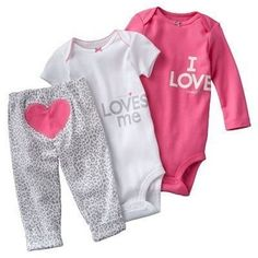 Infant Girls 2 pc Pink Velour SweatSuit Heart LOVE Choose 6-9 mos and 3-6 mos