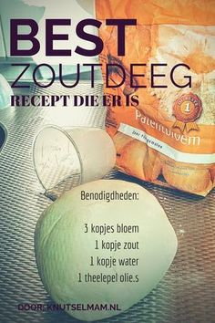 Beste zoutdeeg recept. En hoe te maken. http://knutselmam.nl/