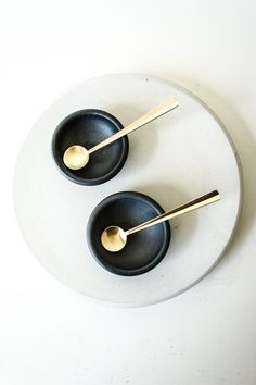 Ceramic Salt Cellar and Gold Spoon Set – Spartan. I love them-and only $20. Good foodie gift!