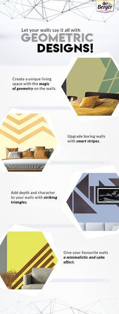 Bring in the charm of geometry inside your home with these amazing decor ideas. #HomePainting #BergerPaintsIndia #PaintYourImagination #HomePaintingTips #PaintIdeas #DecorTips #DecorIdeas