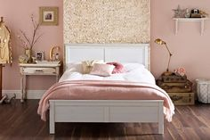 Discover bedroom design ideas on HOUSE - design, food and travel by House & Garden. The bedroom design of your dreams? Rose Bedroom, Dream Bedroom, Bedroom Decor, Bedroom Ideas, Bedroom Wall Designs, Bedroom Inspiration, Modern Shabby Chic, Shabby Chic Decor, Pink Bedrooms
