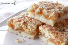 Whip up fresh peachy keen bars for a tasty snack this summer!