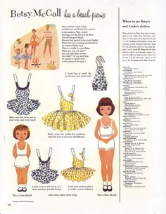 loads of free vintage paper doll printables