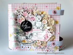 *ClayGuana: Baby Girl Mini Album - Kaisercraft Pitter Patter Paper