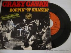 DISCO SINGLE DISCO SINGLE Crazy Cavan - Boppin' 'N' Shakin' - Single Charly Records - 10-39 - España
