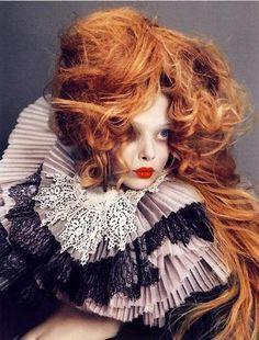 Tanya Dziahileva photographed by Nick Knight.