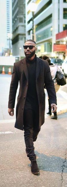 efaf95533826  nicosuavea - with a monochrome all black look with a black topcoat black  turtleneck sunglasses