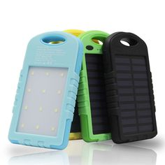 NEW Waterproof 8000 mAh Sun Charger Portable Dual USB Battery Solar Panel power bank External Battery with LED Torch Light   #PowerBankforSamsung