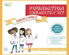 Yellow Scope's Foundation Chemistry Kit: Fantastic STEM kit gift for girls