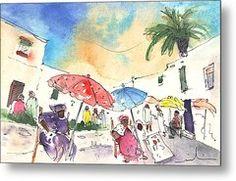 Market In Teguise In Lanzarote 01 Metal Print by Miki De Goodaboom