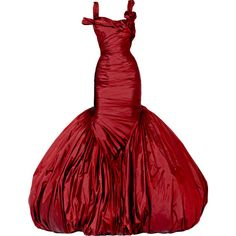 Alexander McQueen - edited by Satinee ❤ liked on Polyvore featuring dresses, gowns, long dresses, alexander mcqueen, red evening gowns, red ball gown, long red evening dress и red gown