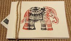 Elephant print card set Block print elephant card sets by peepaltr