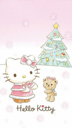 Hello Kitty et Tiny Chum / Christmas Wallpaper