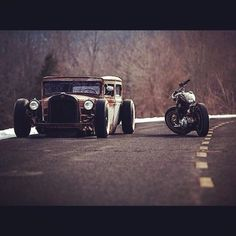 Hot rod and bobber | Bobber Inspiration - Bobbers and Custom Motorcycles | lowfastfamous August 2014