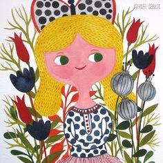She is a wonderful illustrator.