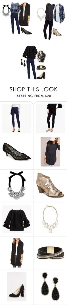 """""""4 outfits to look casual cool- ver 4"""" by jxayres on Polyvore featuring J.Crew, Adrianna Papell, Anthropologie, BaubleBar, Bella Vita, Kendra Scott, Halogen, Panacea and Bálla"""