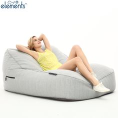 An XL outdoor quilted waterproof bean bag that belongs on a Kensington hotel rooftop or poolside at Ibiza retreat. Bean Bag Gaming Chair, Bean Bag Sofa, Leather Recliner Chair, Swivel Armchair, Cheap Dining Room Chairs, Modern Dining Chairs, Bean Bags Australia, Brown Accent Chair, Large Bean Bag Chairs