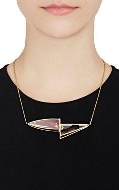 Monique Péan White Diamond, Garnet & Agate Pendant Necklace | Barneys New York