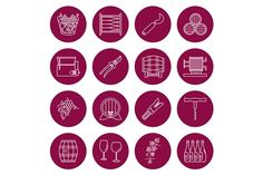 Set of wine industry icons  by Sunshine Art Shop on @creativemarket