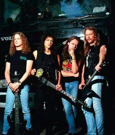 Metallica(90's)- Jason Newstead, Kirk Hammett, Lars Ulrich and James Hetfield