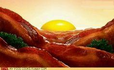 Sunnyside up Bacon mountains
