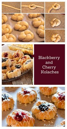 Kolaches are a Czechoslovakian pastry. Similar to a Danish, Kolaches have a dollop of fruit filling in the middle, but with a softer, fluffier, more roll like dough.