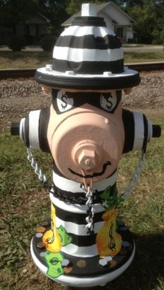 "Route 66 Sullivan, Missouri Fire Hydrant ""Bank Robber Caught in the Act"""