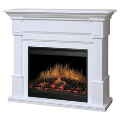 Real Flame Silverton Electric Fireplace - White - The Real Flame ...