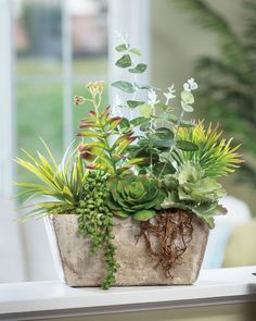4 Thankful Clever Tips: Artificial Flowers Arrangements artificial plants ikea home.Artificial Plants Living Room Home artificial flowers bedroom. Artificial Garden Plants, Artificial Plant Wall, Artificial Succulents, Faux Succulents, Planting Succulents, Artificial Flowers, Indoor Plants, Succulent Plants, Hanging Plants
