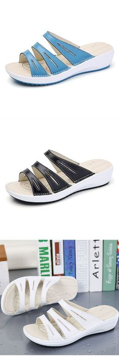 0545bc1051c 6e slippers women casual summer beach outdoor leather flat sandals  bb-8   slippers