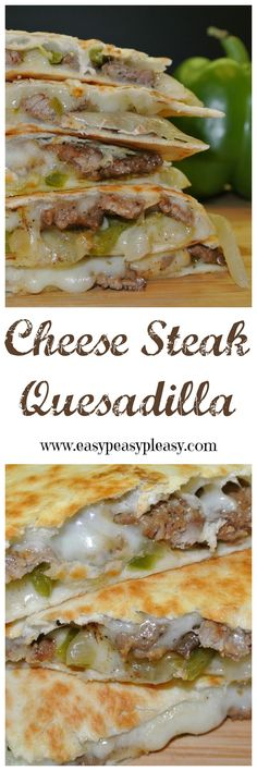 Steak Quesadillas Are A Crowd Pleaser Cheese Steak Quesadillas are the perfect twist on this Tex-Mex classic.Cheese Steak Quesadillas are the perfect twist on this Tex-Mex classic. Steak Quesadilla, Quesadilla Recipes, Steak Pizza, Steak Sandwich Recipes, Steak Sandwiches, Chicken Quesadillas, Steak Burrito Recipe, Sliced Beef Recipes, Gastronomia