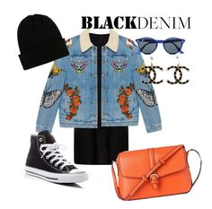 """""""GUCCI denim jacket -"""" by andreolam on Polyvore featuring MuuBaa, Gucci, Converse, Topman, L.K.Bennett, NLY Accessories and Chanel"""