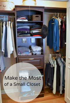 Making the most of the space in a small closet.