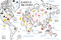 This is so cool! 46 cookie recipes from around the world! Your holiday cookie tin is about to get 46 times more exciting.