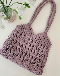 Macrame Bag, Crochet Top, Bags, Women, Fashion, Knitting And Crocheting, Tricot, Handbags, Moda