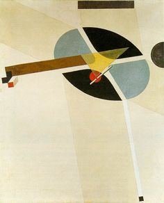 1923 Proun G 7 tempera & varnish on canvas 77 x  62 cm