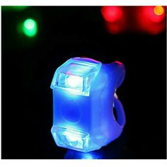 Bicycle lights Color : Red, Blue Material : Silicon Price : 7TL
