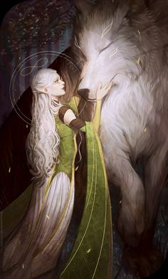Innocent and sweet on the outside, but no one can see on the inside. She is the wolf. A bond that goes back generations. A human and wolf sharing the same mind. The human controls but if the need is great the wolf will take over. Pray that you are never in the vicinity if it does.