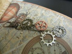 Steampunk Bagcharm or Keychain Cogs Gears by InspiredbySteamPunk