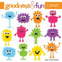 Digital Clipart - Silly Monsters  $4.00