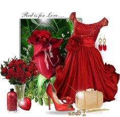 """""""Red Rose"""" by hrfost1210 on Polyvore"""