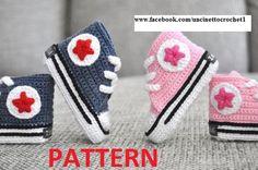 PATTERN Baby crochet converse-newborn sneakers by uncinettocrochet