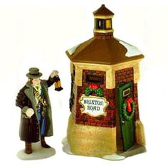 """Dickens' Village Series™  Item #: 56.58390  *RETIRED*       """"Brixton Road Watchman""""    Set of 2  Size: 4.5, 2.5''    US Retail:  $25.00  CAD Retail:  $35.00    Collector Notes:  •Introduced December, 1995  •Retired December, 1999"""