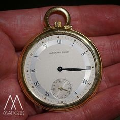 From the vault. I found this beautifully simple Audemars Piguet manual wind open-faced pocket watch with sub seconds at six o'clock.