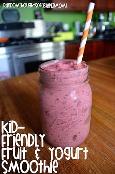 Kid-Friendly Fruit and Yogurt Smoothie