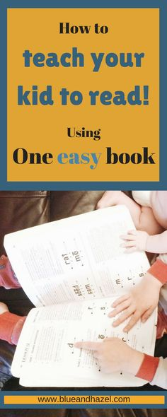 This is how we are teaching my 4 year old to read. Teach your Child to Read in 100 Easy Lessons! How to teach your preschooler to read// Homeschool// how to use this book to do daily reading lessons and get your child reading before school or caught up in school. #earlyreading #homeschool #preschool #blueandhazel