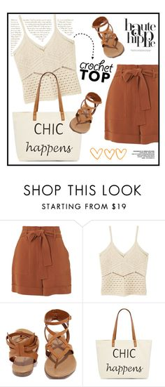"""""""Chic crochet"""" by youaresofashion ❤ liked on Polyvore featuring Whistles, MANGO, Breckelle's, Straw Studios and crochet"""