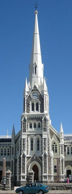 Graaff-Reinet Dutch Reformed Church in South Africa. The church is right in the center of town and it's the fourth church to be built on the same spot. It is said to be one of the best examples of early Gothic style architecture in South Africa. Monuments, Places Around The World, Around The Worlds, Les Religions, Church Architecture, Cathedral Church, Old Churches, Church Building, Place Of Worship